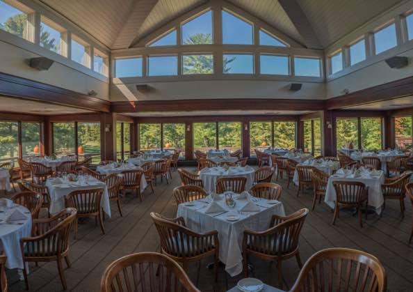Fireplace Room Restaurant At The International Golf Club Ma
